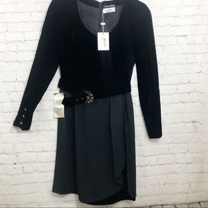 Valentino Miss V women black dress size 42/8 NWT